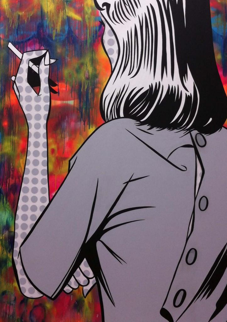smoking area 5, canvas 163x121